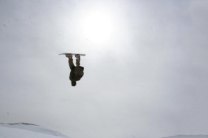 M.BC  back-flipping winter 2009, Cedars, Lebanon